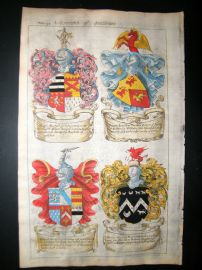Guillim Heraldry 1679 H/Col. Ralph Marshall, Francis Lunde, Richard Stratford